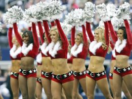 dallas cowboys cheerleaders perform during the game with the new orleans saints